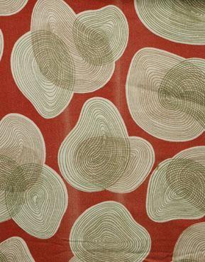 1950's Mid-century Modern, Eames era Fabric with Colorful Biomorphic Shape Design :: Quintessentia