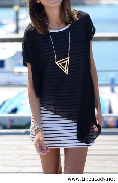 Sweater over stripes