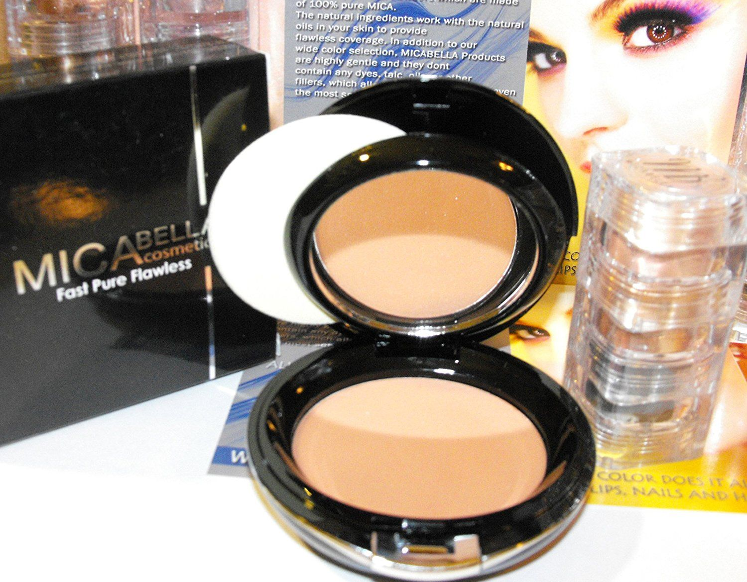 Bundle 2 Items: Mica Beauty Mineral Makeup Mf5 Cappuccino Pressed Foundation 12g 3 Stacks Gold Peacock -- This is an Amazon Affiliate link. See this great product.