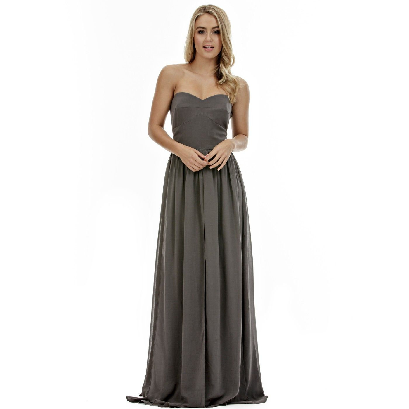 Langhem cecilia charcoal bridesmaid dress wedding attire charcoal bridesmaid dresses ombrellifo Image collections