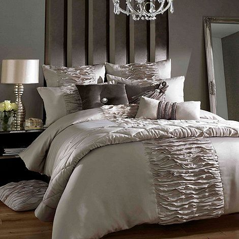 Kylie Minogue at home Taupe  Giana truffle  bed linen  at Debenhams. Kylie Minogue at home Taupe  Giana truffle  bed linen  at
