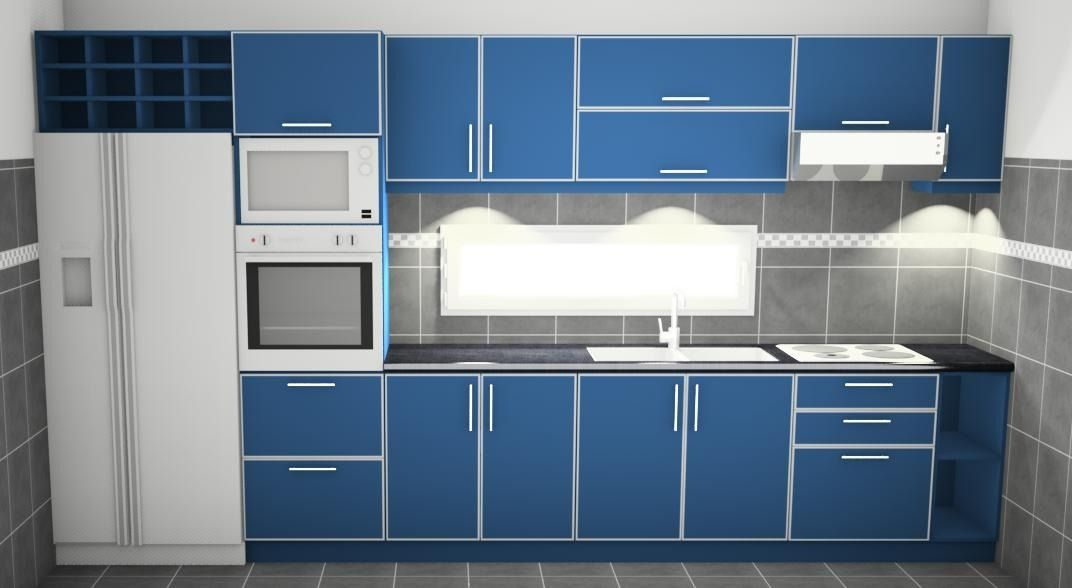 Bajo mesada perfiles de aluminio alacena for Muebles bajo barra de cocina