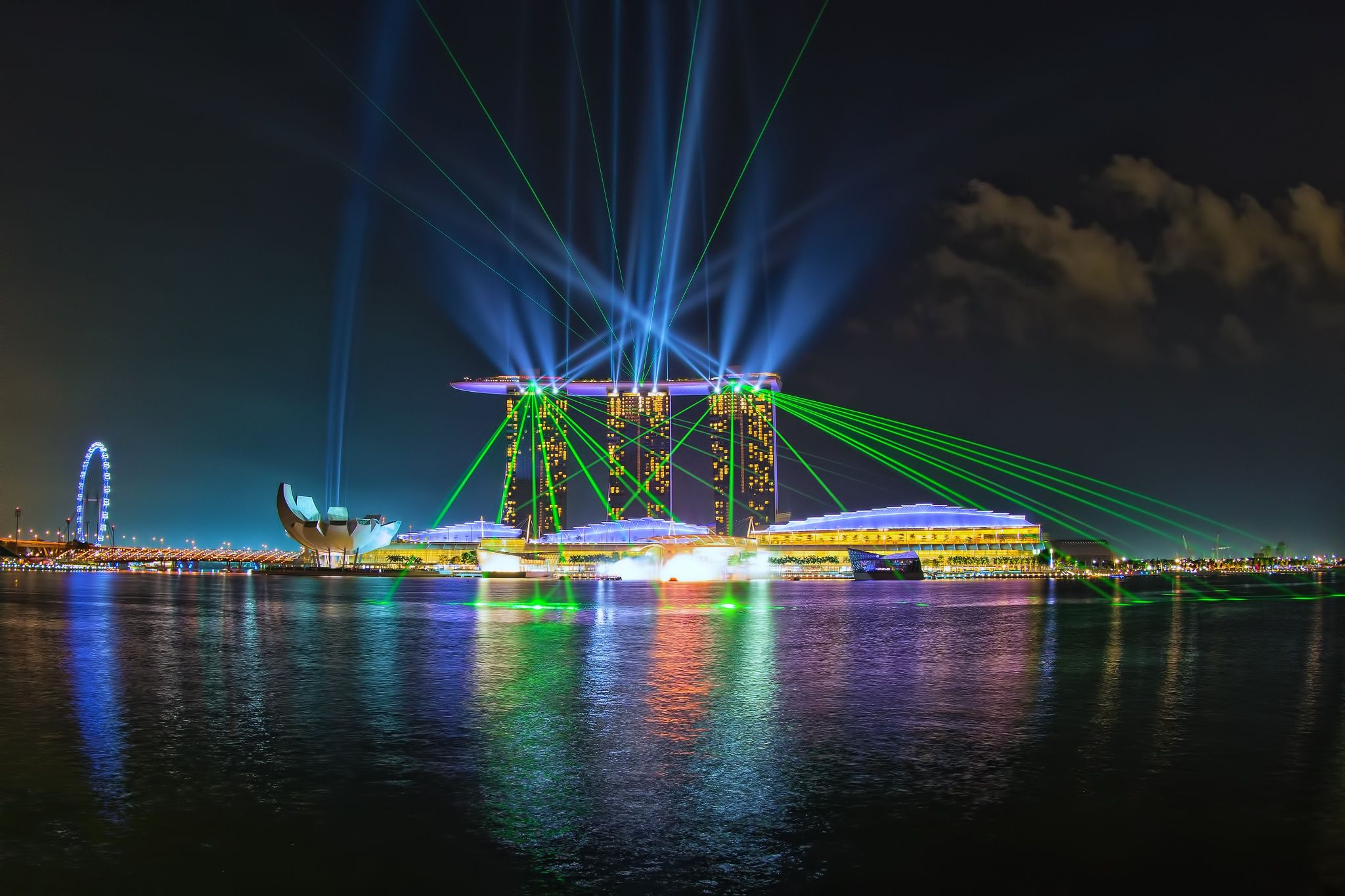 show time laser show at marina bay sand singapore been there