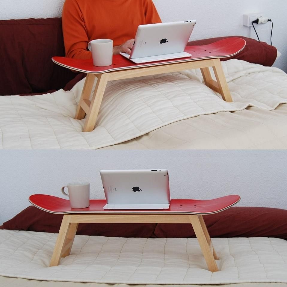 Skateboard Bed Tray Or Stool Coffee Table Side Table For Skateboarders Skateboard Furniture Skateboard Room Bed Tray