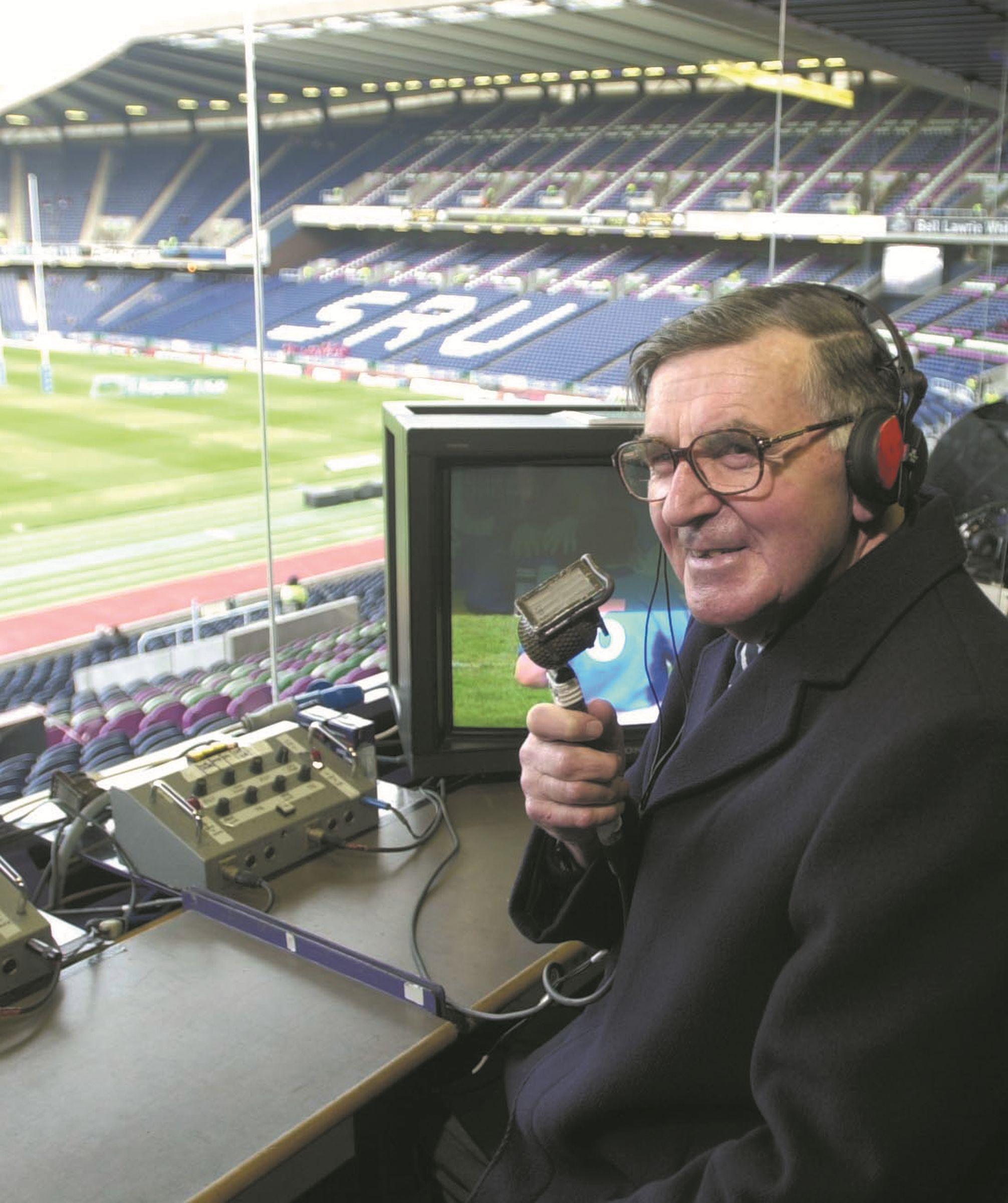 Bill McLaren Greatest Commentator Scotland rugby, Rugby