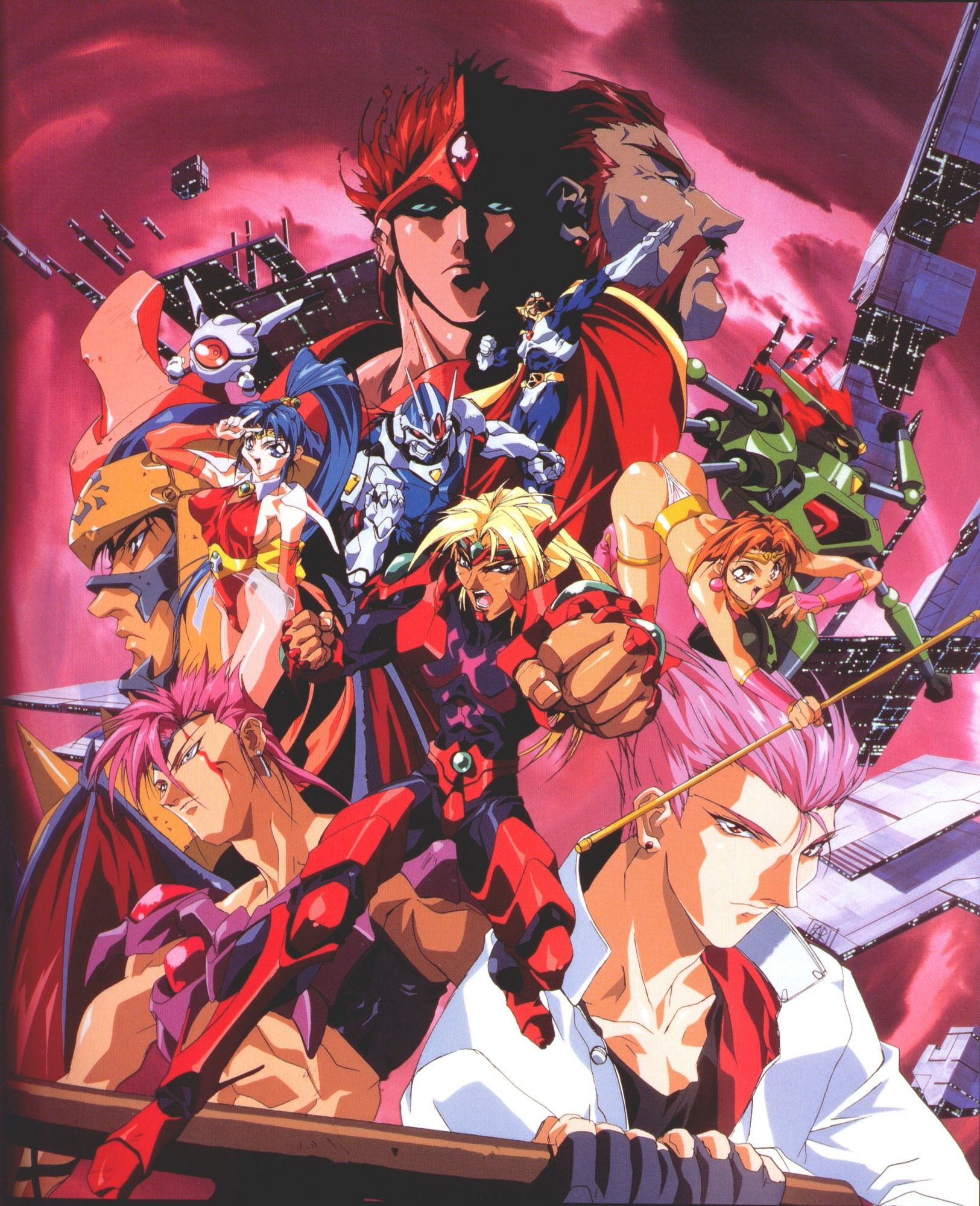 Voltage Fighter Gowcaizer Shitajiki Illustrations Posters Anime