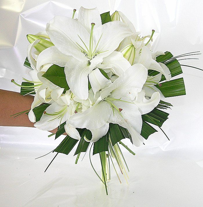 Simple 1 Of My Choices Lily Bouquet Wedding Wedding Flowers