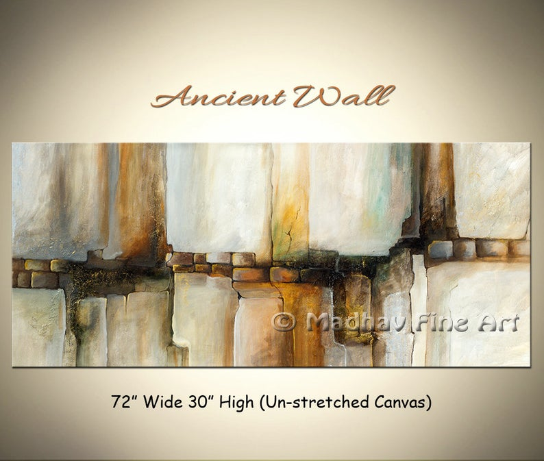Abstract Wall Painting, Abstract Acrylic Painting, Rock