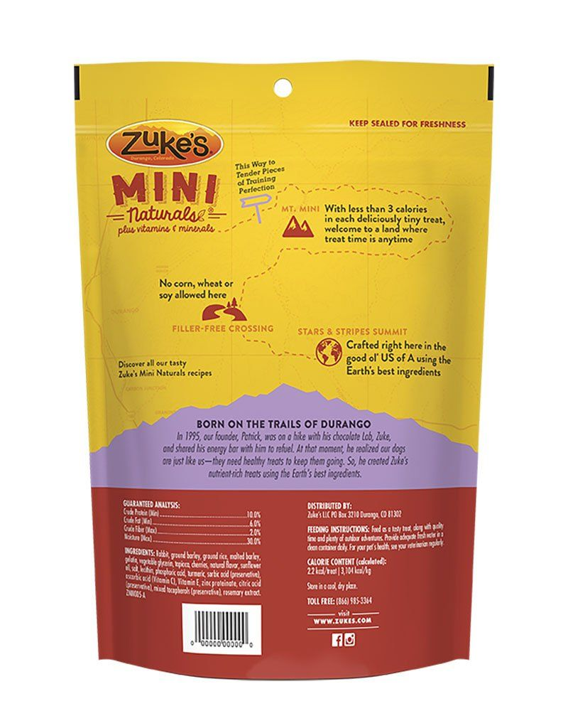 Zukes Mini Naturals Rabbit Recipe Dog Treats 16 Oz Pouch Check Out This Great Product This Is An Dog Food Recipes Natural Dog Treats Dog Treat Recipes
