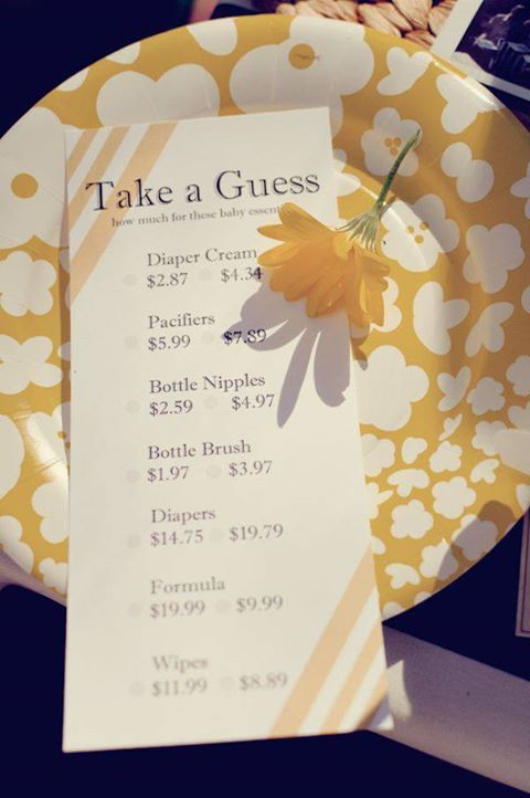 Baby Shower Game   Guess How Much Baby Items Really Cost