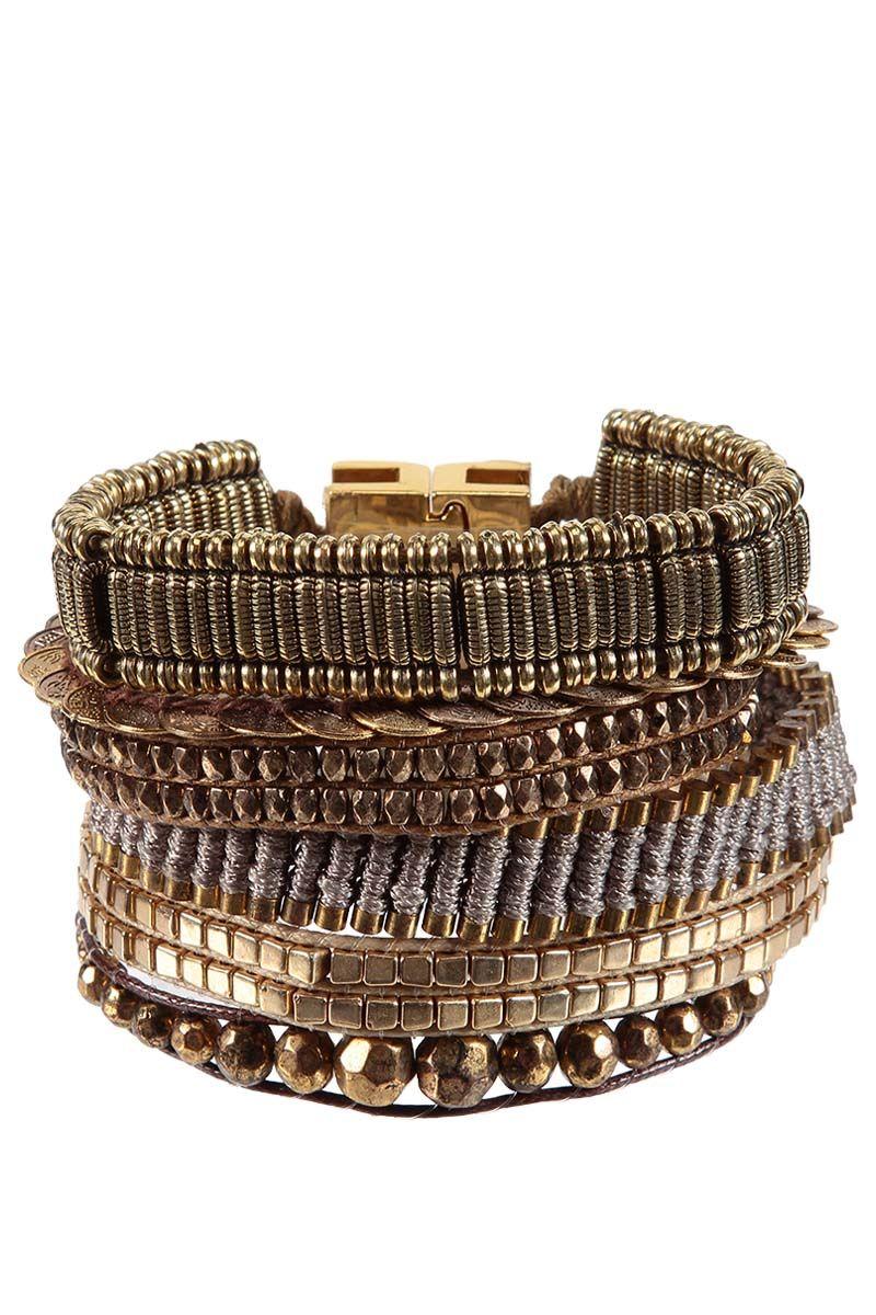 Bracelet platine HIPANEMA, Fermeture aimantée - Mode BE
