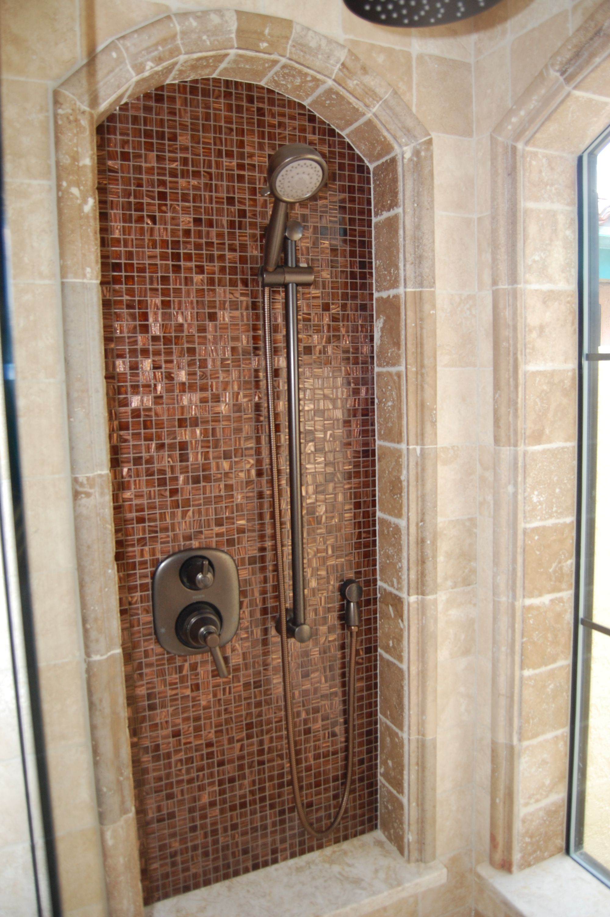 Tile Work And Arch Around Bathroom Shower In 2019