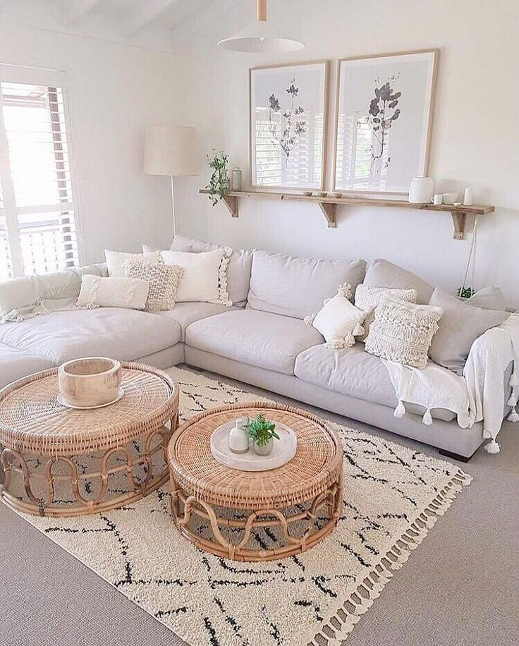 "Photo of The Organised Housewife on Instagram: ""Loving this loungeroom, so simple but still gorgeous. I love the neutral colours for a change! What do you think? ⠀⠀⠀⠀⠀⠀⠀⠀⠀ 📸: Image via…"""