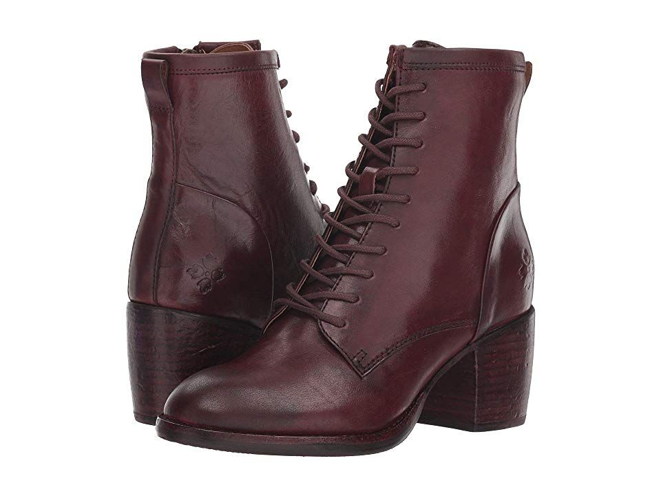 dc4f08d85a2 Patricia Nash Sicily (Merlot Hand Stained Leather) Women's Lace-up ...