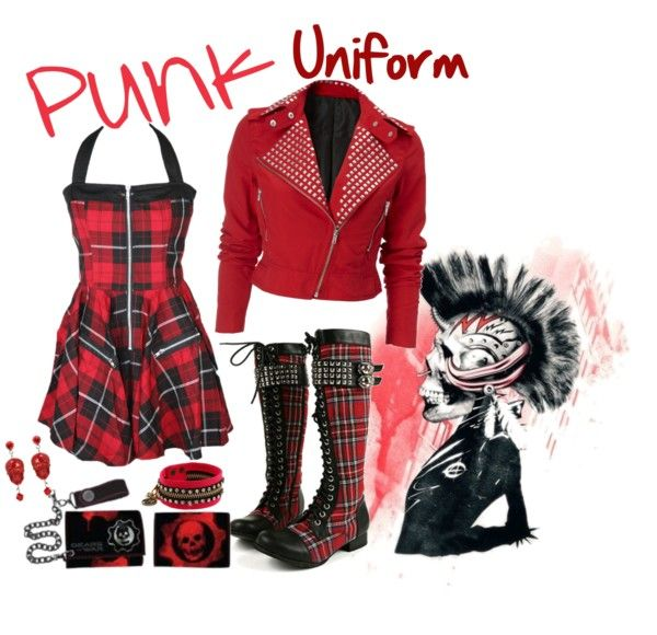 """""""Punk Uniform"""" by witchy13 on Polyvore"""