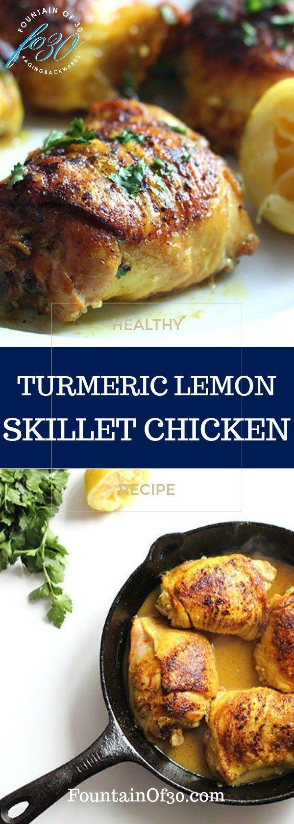 Easy To Make Anti-Inflammatory Tumeric Lemon Chicken - fountainof30.com