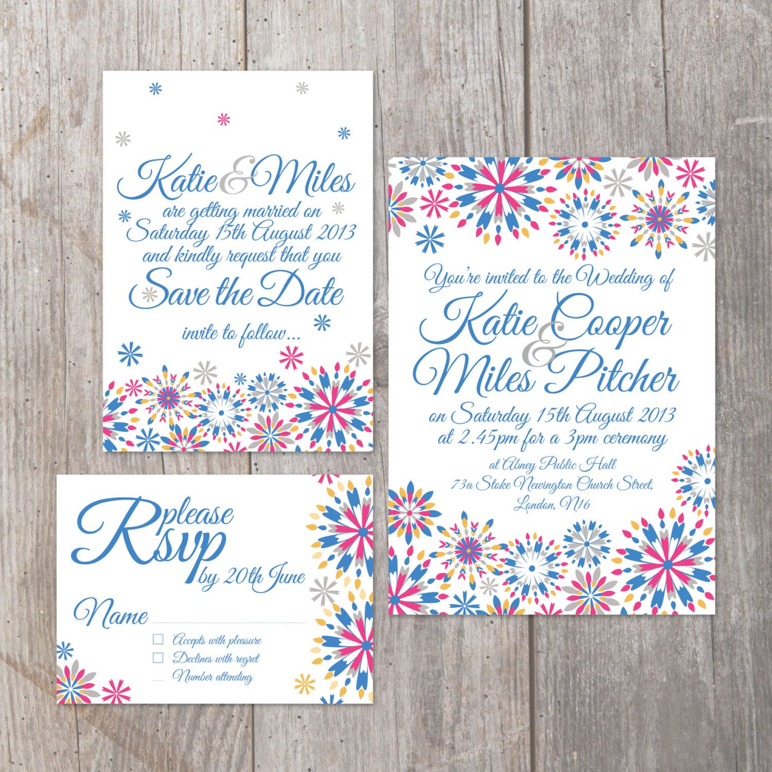 Vintage calligraphy style floral digital Printable DIY Wedding ...