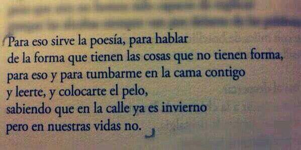 Poesía eres tú.