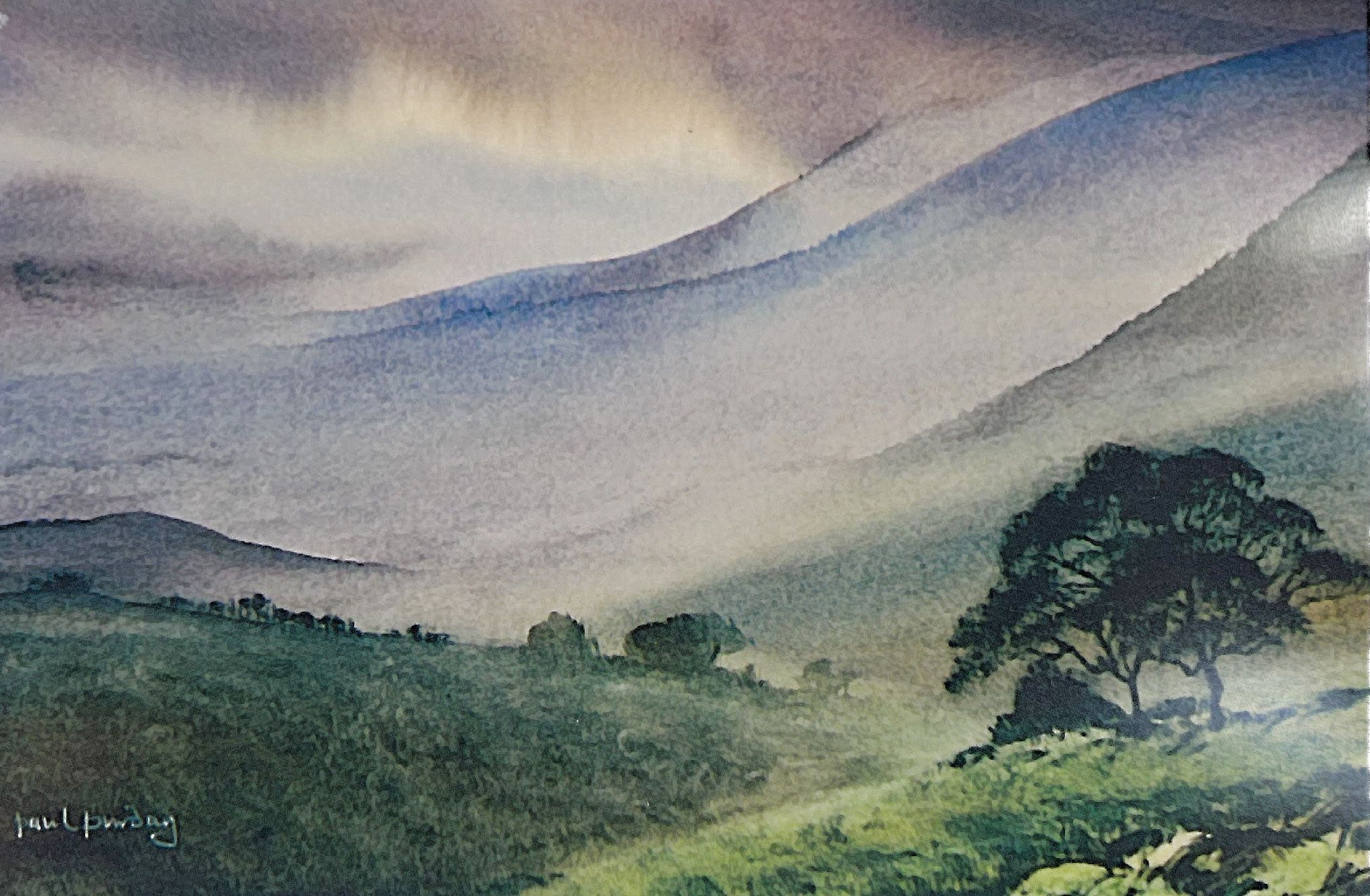 Mountain Atmosphere Etsyseller Etsyshop Watercolorpainting
