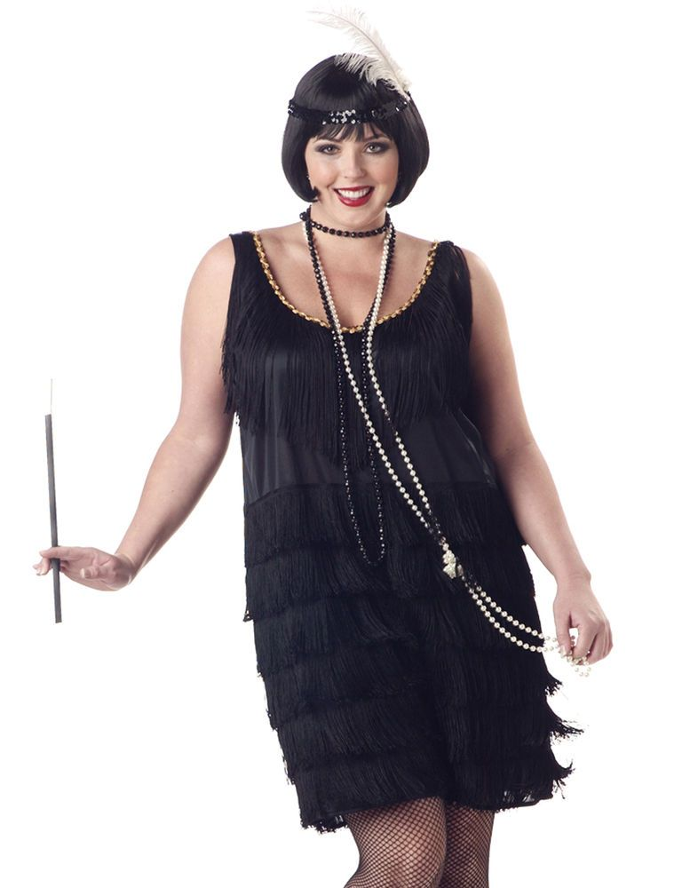 873ead9c886 Great Gatsby 1920 s Fashion Flapper Sexy Women Plus Size Halloween Costume  1X-3X  CaliforniaCostumes