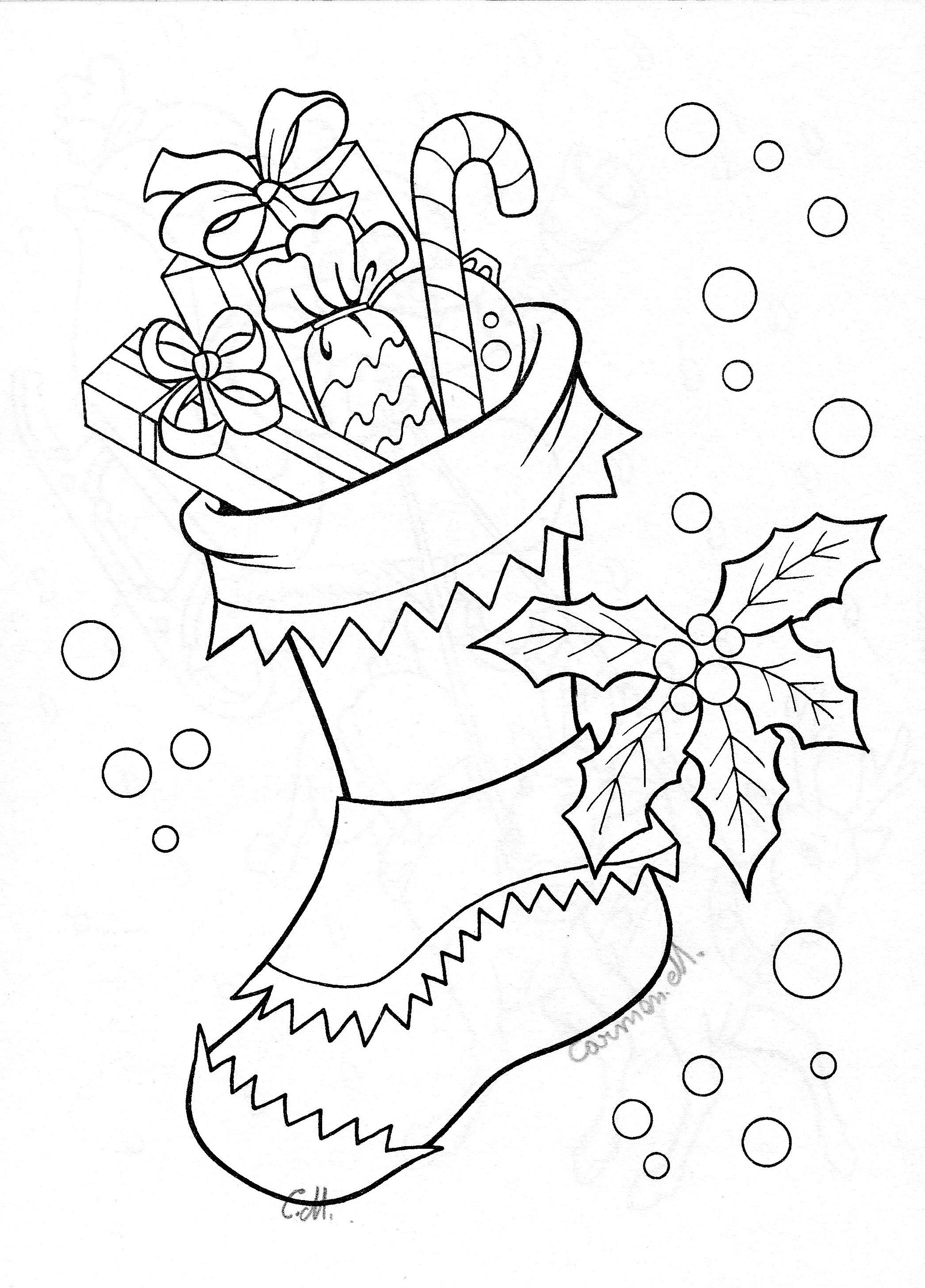 Christmas Stocking Drawing Art Christmas coloring