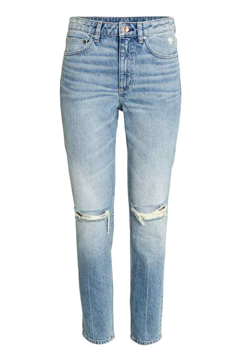 Relaxed Skinny Ankle Jeans Lichtblauw Dames H M Nl Ripped Denim Destroyed Denim Jeans Women Jeans