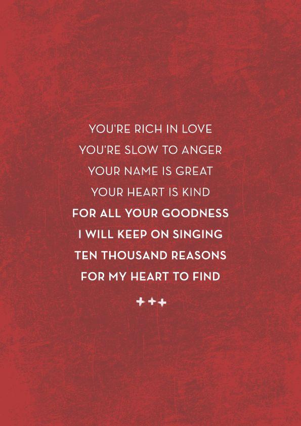Lyric lyrics to bless the lord oh my soul : 10,000 Reasons (Bless The Lord) - Matt Redman + Jonas Myrin ...