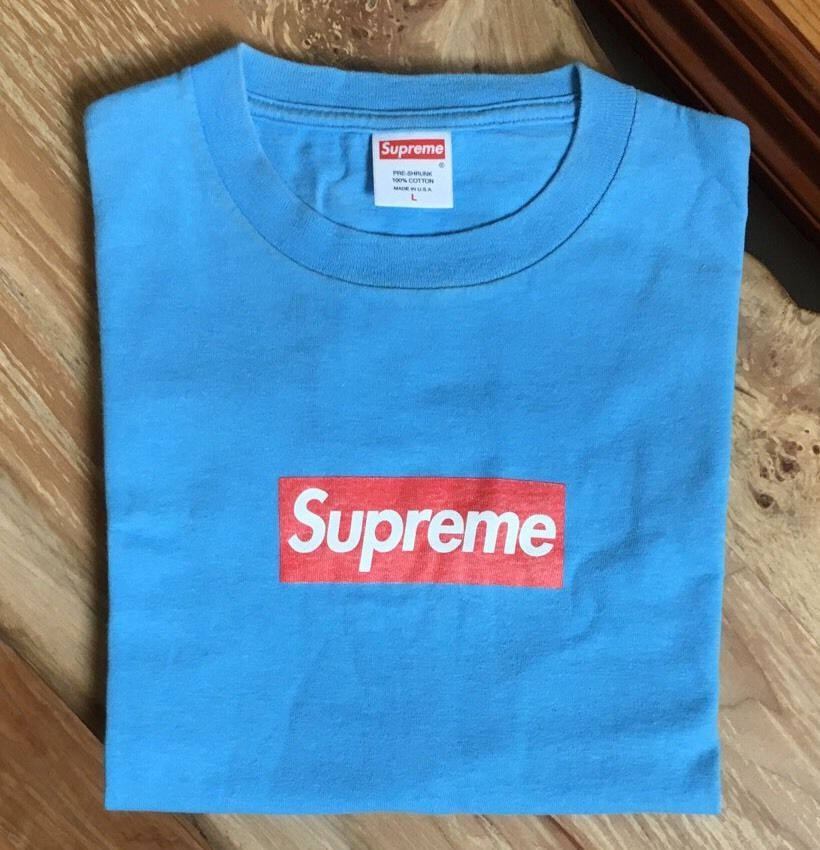 249b1b58aa4 100% authentic Supreme Teal Red Box Logo Tee size L cdg shibuya kermit  958   Supreme  GraphicTee