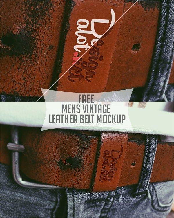 Free Mens Vintage Leather Belt Mockup Mockup Templates Pinterest