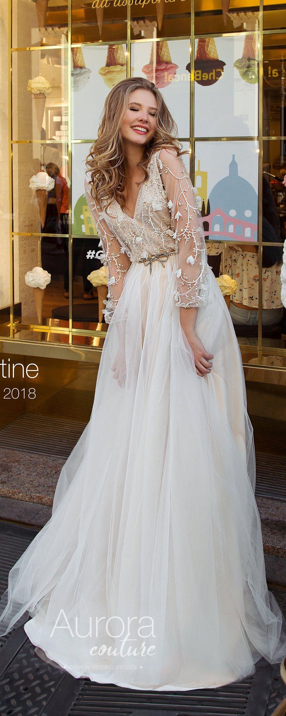 Bohemian wedding dress wedding dress long sleeve wedding dress