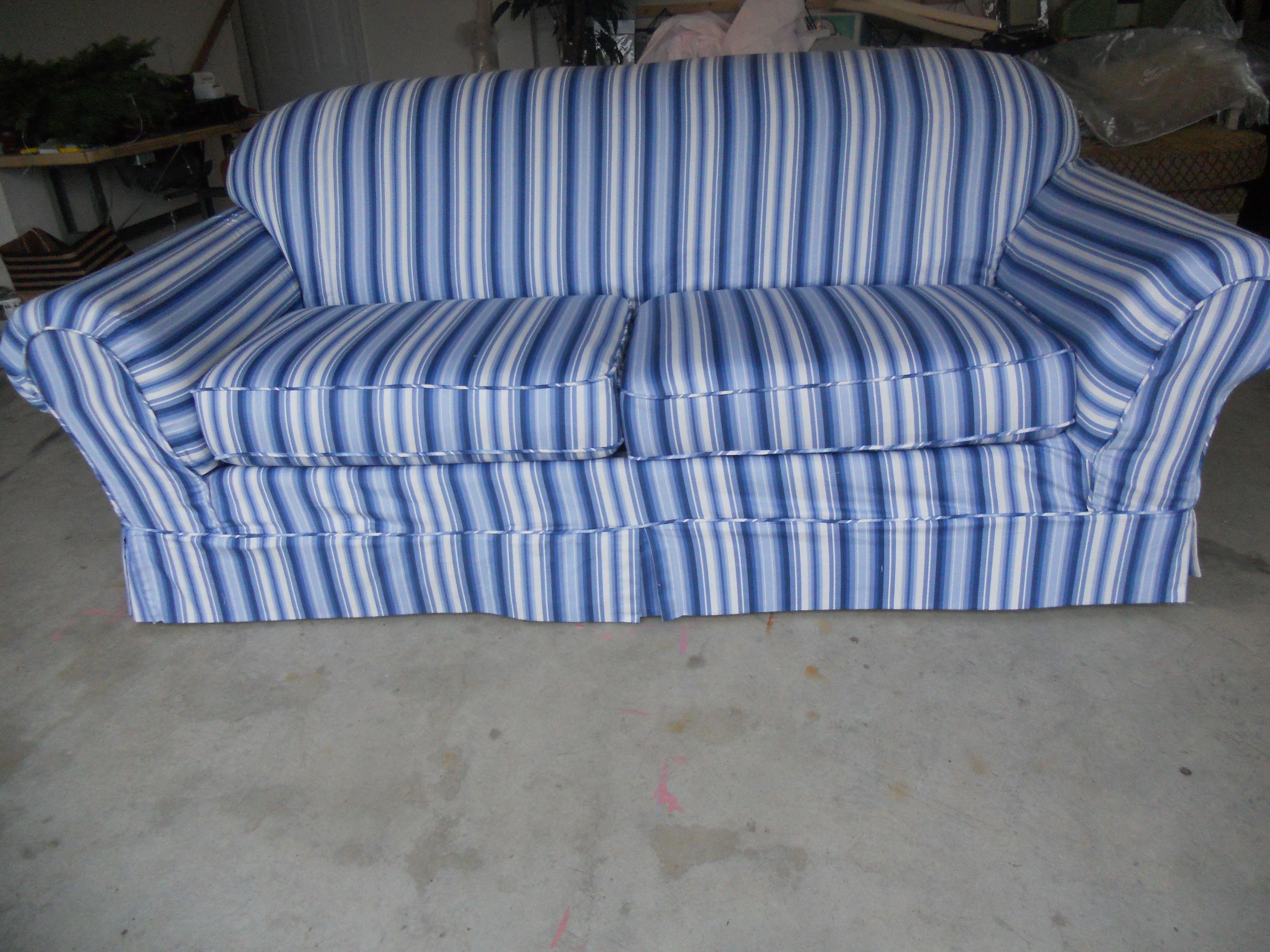 Blue White Striped Sofa Slipcover Striped Sofa Slipcovered Sofa Home Decor