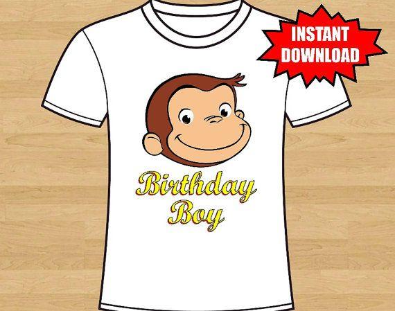 Curious George Iron On Birthday Shirt Iron by DigitalDesigns2014