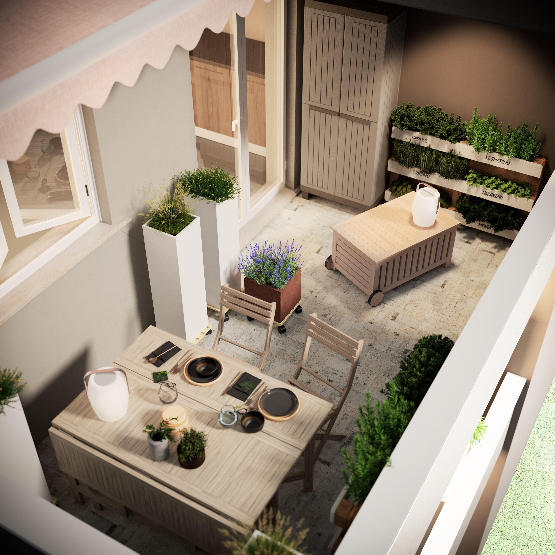 Progetto balcone piccolo e stretto   Leroy Merlin nel 2020 ...