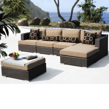 Niko 6 Piece Patio Deep Seating Modular Sectional By Sirio™ (I Think We