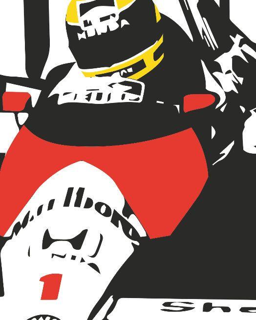 Ayrton Senna poster by PosterBoys on Etsy