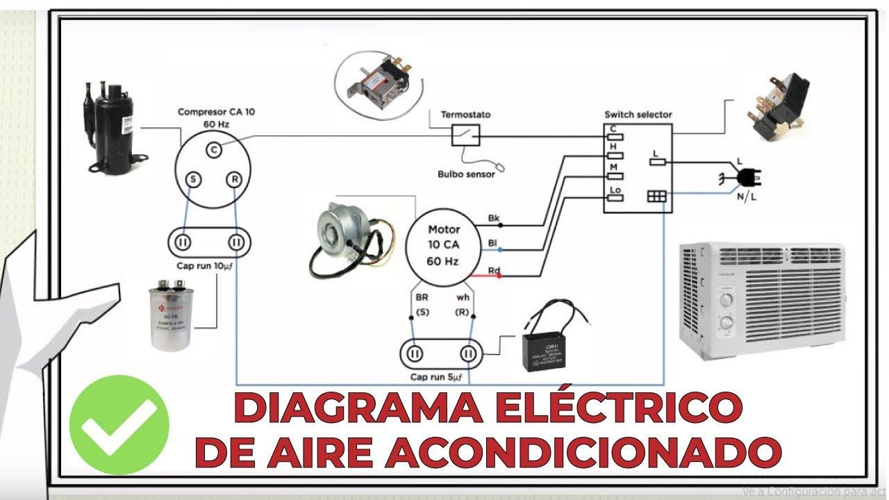 CÓMO LEER DIAGRAMA ELECTRICO DE AIRE ACONDICIONADO 🔎📐 en
