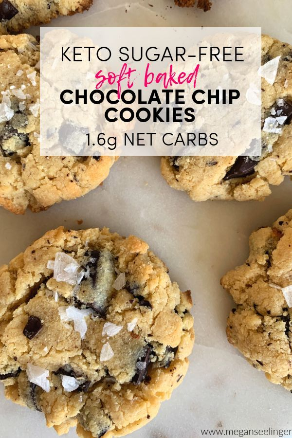 Coconut Flour Sugar-Free Chocolate Chip Cookies #chocolatechipcookies