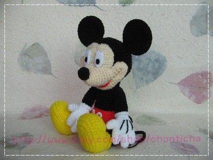 Amigurumi Patterns Free Crochet Pdf : Mickey mouse 10 inches pdf amigurumi crochet pattern amigurumi