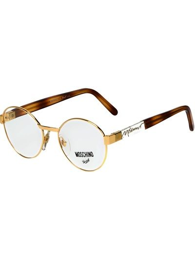 fe7321a9da2 MOSCHINO BY PERSOL VINTAGE - round frame glasses 5