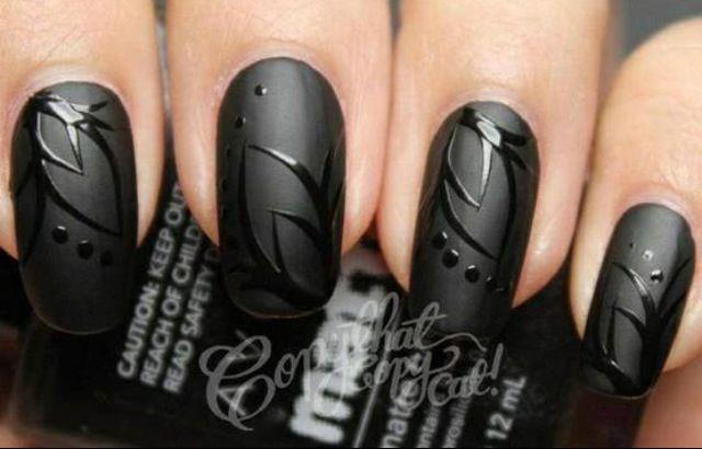 Matte Black With Shiny Design