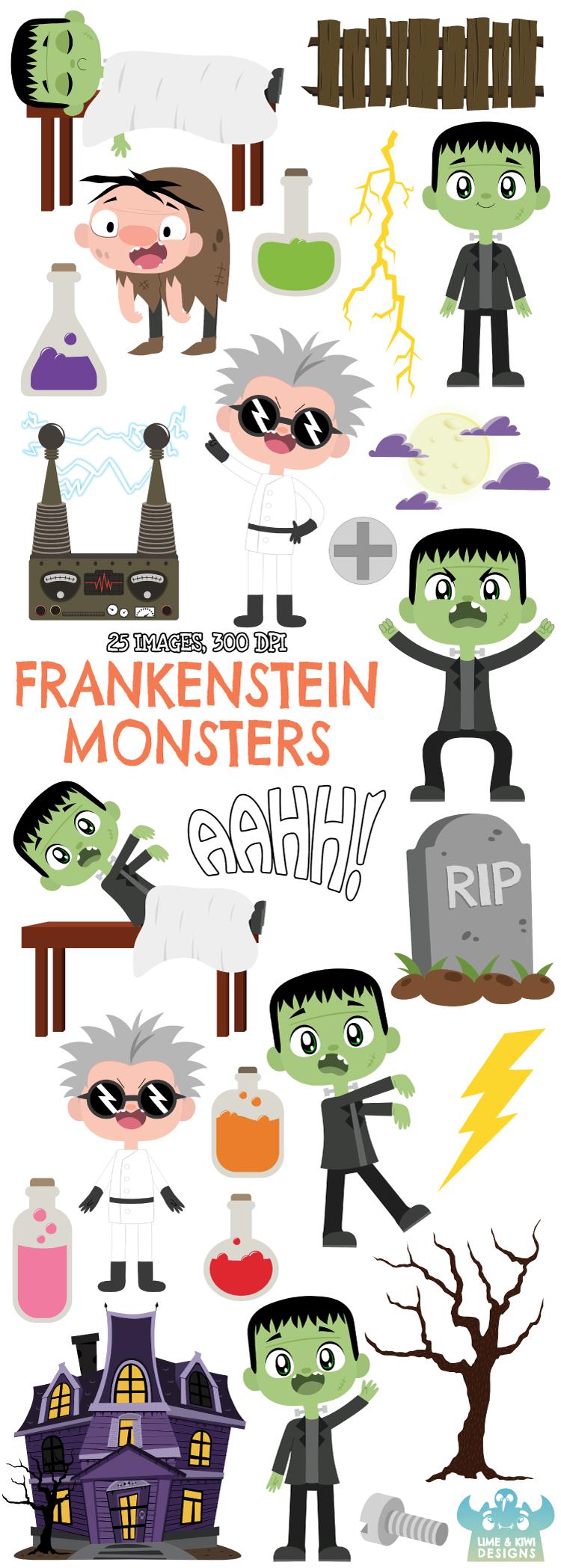 Frankenstein S Monster Clipart Lime And Kiwi Designs Monster Clipart Clip Art Frankenstein S Monster