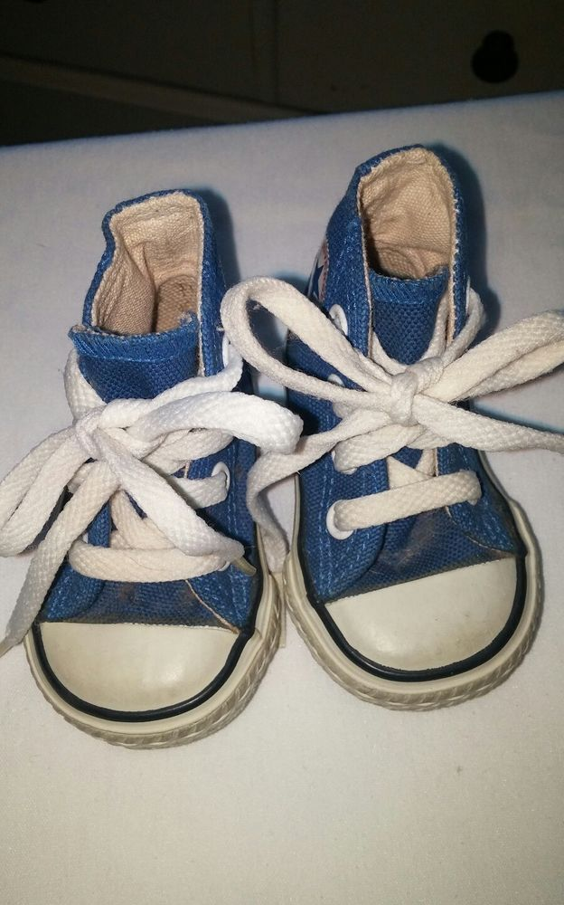 Vintage 70's Blue Hi Top Chuck Taylor All Star Baby Converse