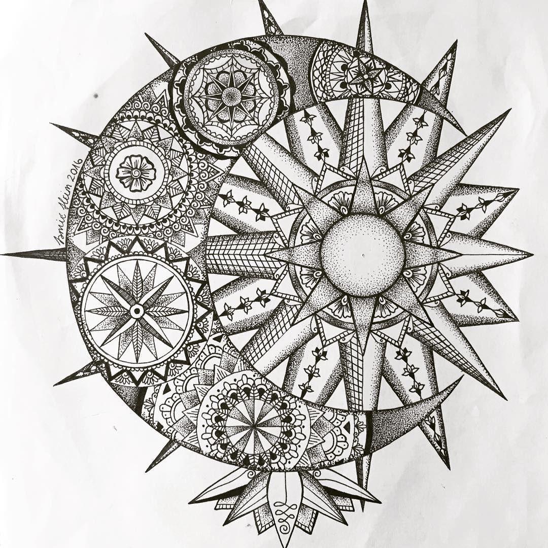 Pin De Sharon Illanes En Tatuajes Tatuaje Sol Mandala Tatuajes