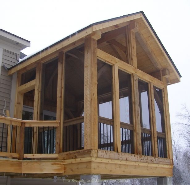 Timber Frame Screened Porch Timber Frame Porch House With Porch