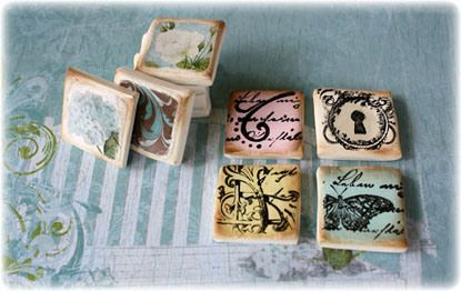Polymer clay tile Embellishments