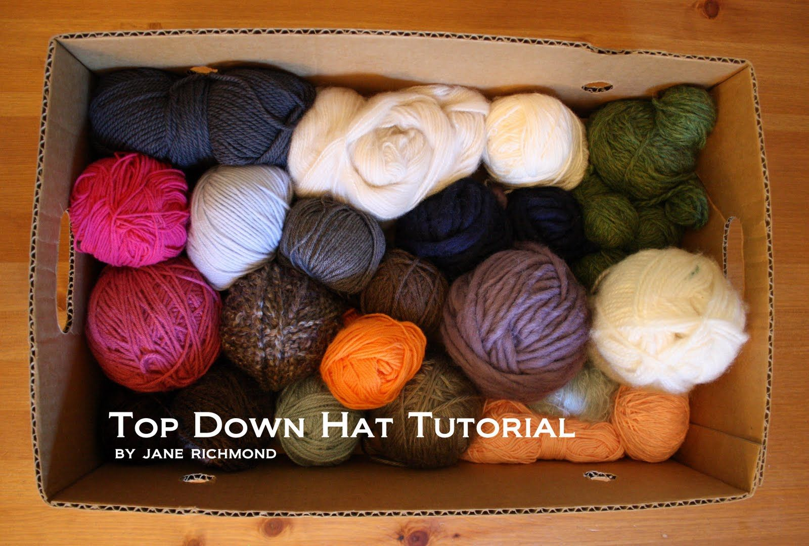 Top Down hat-knitting tutorial! Check the website!