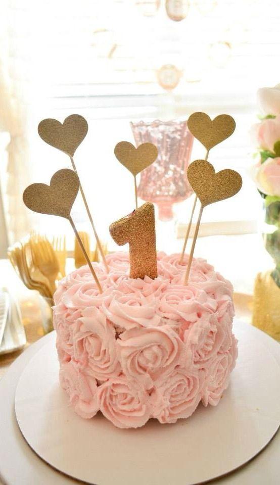 Ava S Floral First Birthday First Birthday Cakes 1st Birthday