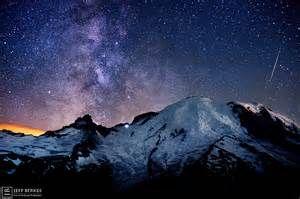 mount rainier night sky - Bing images