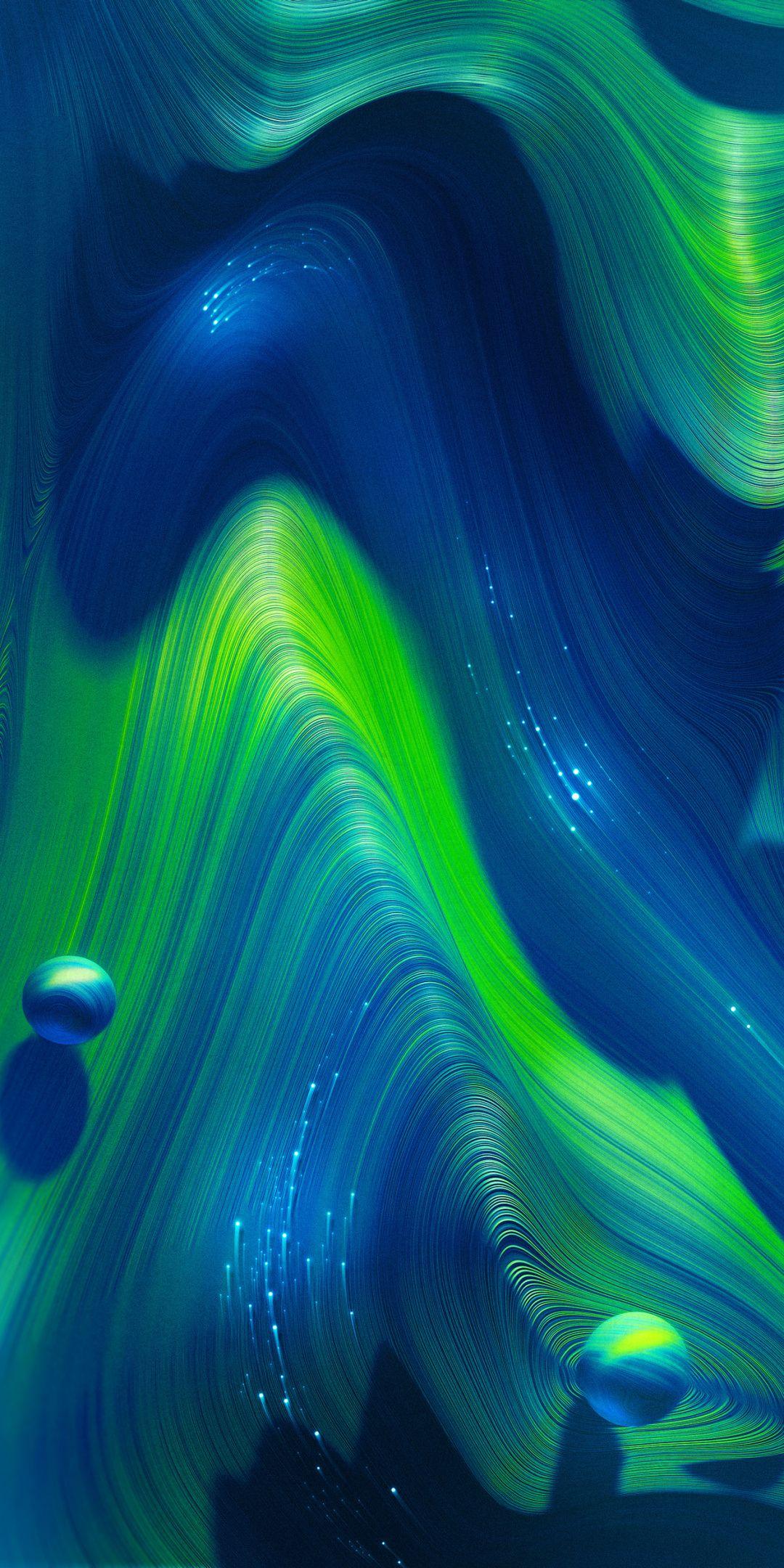 Waves Flow Stream Colorful Blue Green 1080x2160 Wallpaper Xiaomi Wallpapers Galaxy Phone Wallpaper Cellphone Wallpaper Backgrounds