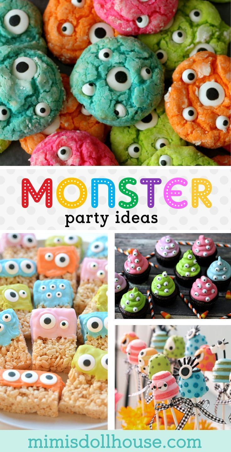 Monster Party: Monster Birthday Party Ideas and Desserts #babyboy1stbirthdayparty